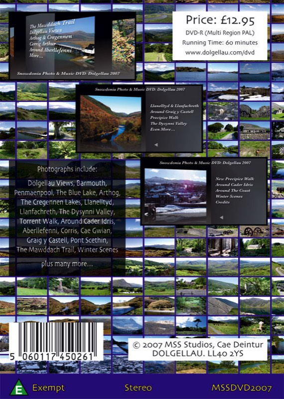The Snowdonia Photo and Music DVD Back