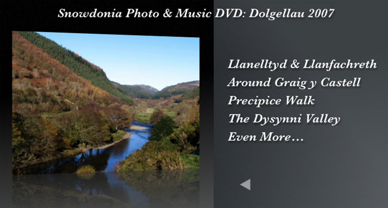 The Snowdonia Photo and Music DVD Menu 2
