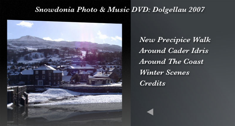 The Snowdonia Photo and Music DVD Menu 3