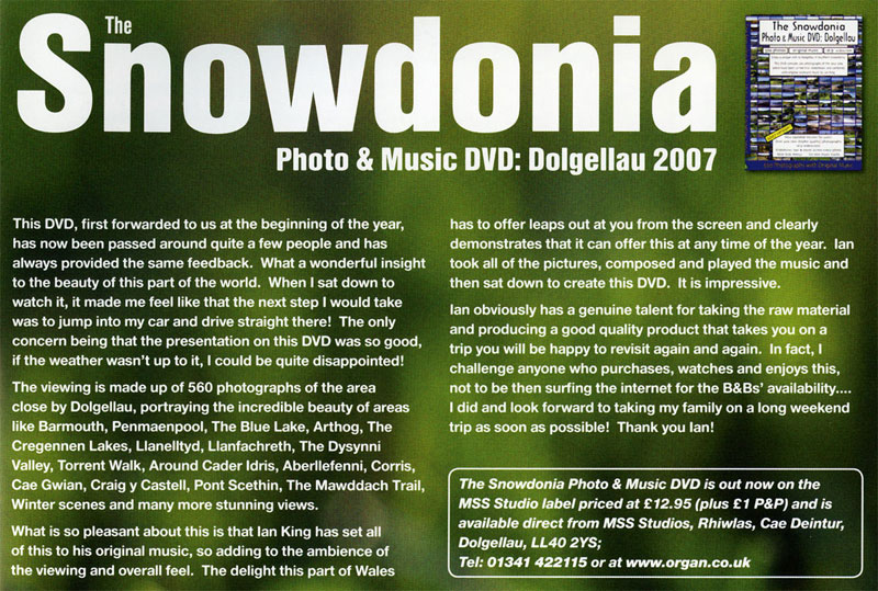 The Snowdonia Photo and Music DVD Review 2